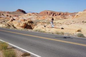 Modèle danse desert Las Vegas Saut ecart